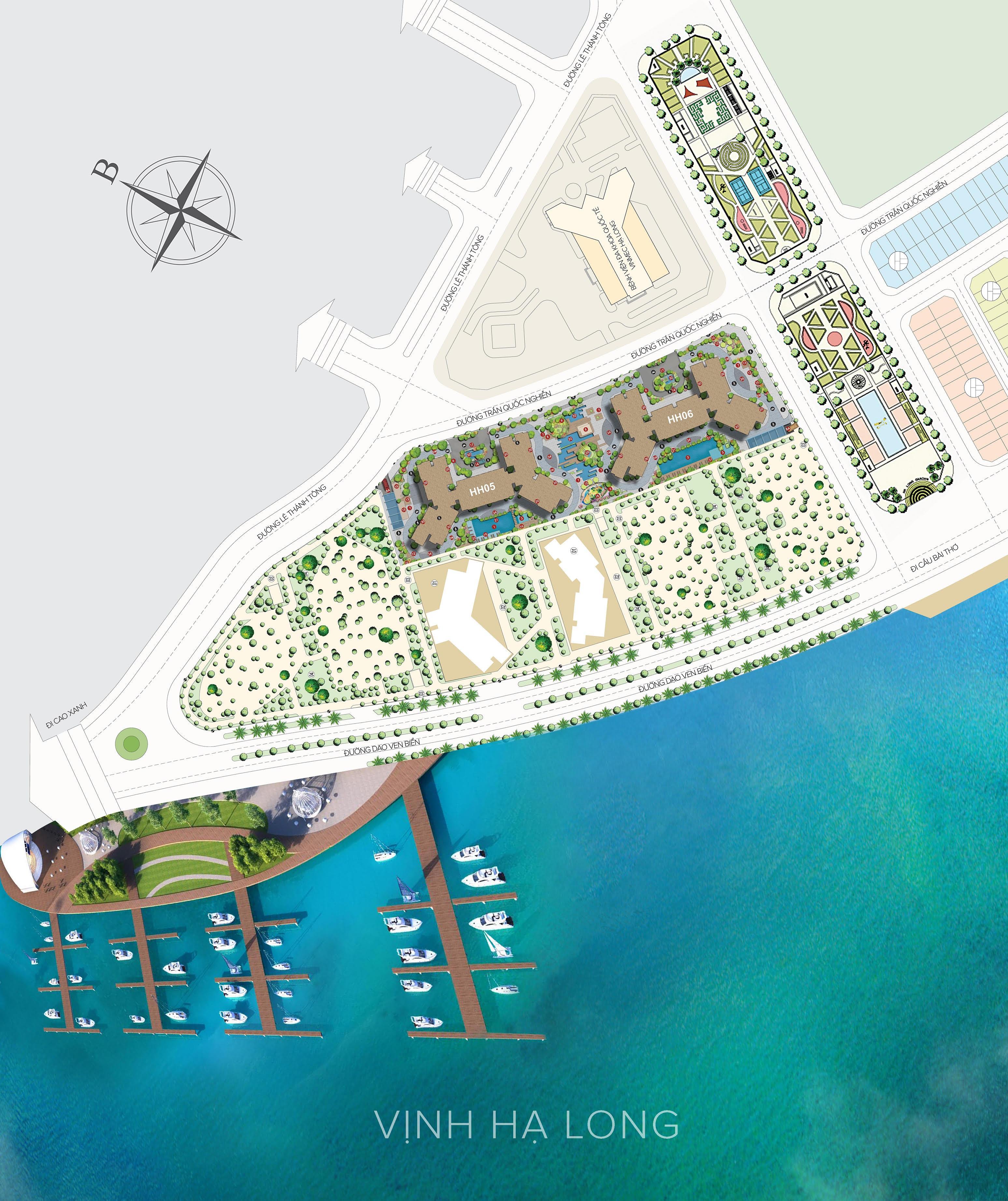 Mặt bằng thiết kế dự án chung cư Dragon Bay Hạ Long giai đoạn 2